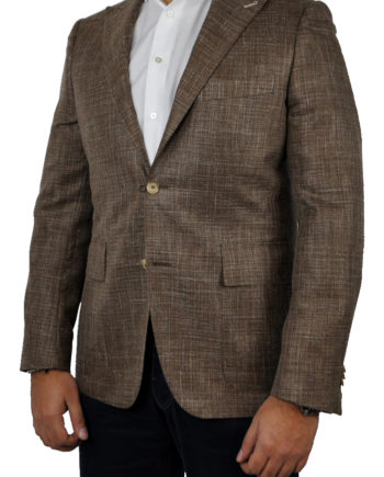J.TOOR Tailored Sport Jacket - Loro Piana - Brown - WOSELI