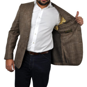 J.TOOR Tailored Sport Jacket – Loro Piana – Brown – WOSELI 3