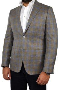 J.TOOR Tailored Sport Jacket – Loro Piana – Brown wBlue Double Windowpane – WOSELI 1