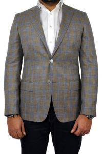 J.TOOR Tailored Sport Jacket – Loro Piana – Brown wBlue Double Windowpane – WOSELI 2