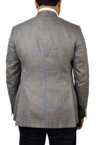 J.TOOR Tailored Sport Jacket – Loro Piana – Brown wBlue Double Windowpane – WOSELI 3