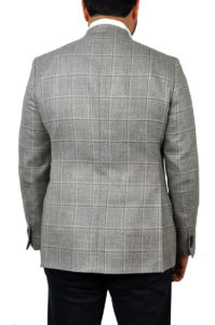 J.TOOR Tailored Sport Jacket – Loro Piana – Grey wBrown Windowpane – LinenTweed 2