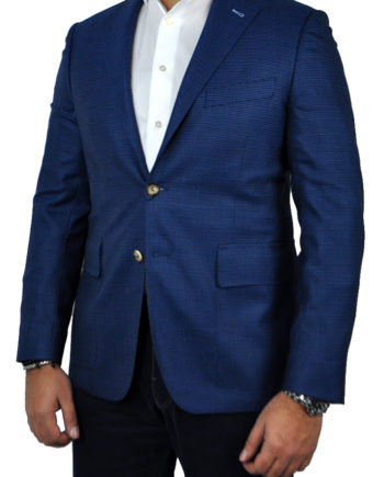 J.TOOR Tailored Sport Jacket - Reda - Blue Birdseye - Wool
