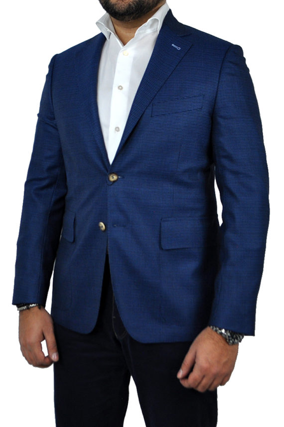 J.TOOR Tailored Sport Jacket - Reda - Blue Birdseye - Wool
