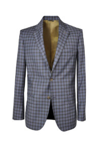 J.TOOR Tailored Sport Jacket – Reda – Blue wBrown Check