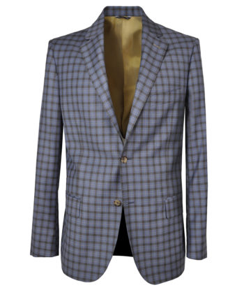 J.TOOR Tailored Sport Jacket - Reda - Blue wBrown Check