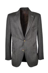 J.TOOR Tailored Sport Jacket – Reda Wool – Brown Herringbone