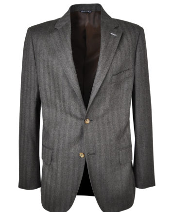 J.TOOR Tailored Sport Jacket - Reda Wool - Brown Herringbone