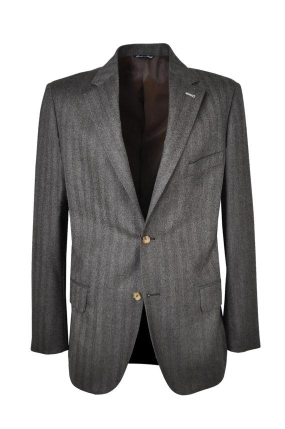 J.TOOR Tailored Sport Jacket - Reda Wool - Brown Herringbone