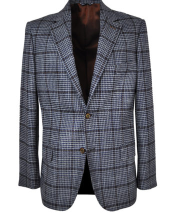 J.TOOR Tailored Sport Jacket - VBC - Grey & Navy Houndstooth w Rust Windowpane