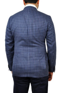 J.TOOR Tailored Unstructured Jacket – Lanificio di Pray WoolSilk – Blue Check 3