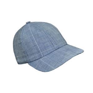 Navy Plaid Hat