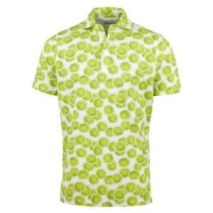 Stenstroms Fitted Body Men Polo Shirt, Lime Slices Pattern 1
