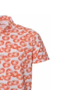 Stenstroms Fitted Body Mens Polo Shirt, Tomato Slices Pattern 3