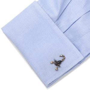 Tateossian – Blk EnamelSwarov Cufflinks – MechanimalsScorpion 3