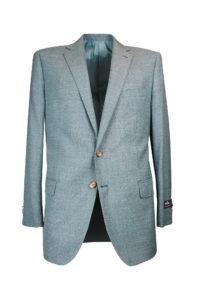 Francis – Sport Jacket – Dark Teal & Grey Hopsack 1
